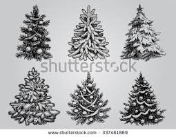 christmas tree silhouette stock images royalty free images