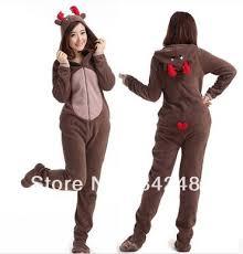 deer fleece cotton unisex footed pajamas sleepsuit