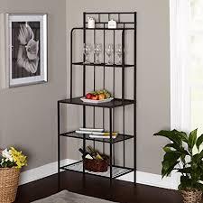 Bakers Racks For Kitchens Amazon Com Metal Kitchen Bakers Rack Indoor Bakers Rack Black