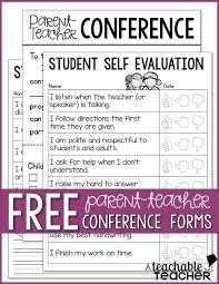 sample student evaluation forms free parent teacher conference