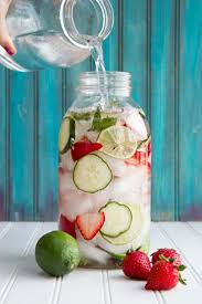 strawberry lime cucumber and mint infused water recipe mint