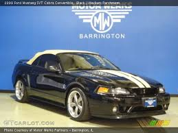 1999 Black Mustang Black 1999 Ford Mustang Svt Cobra Convertible Medium Parchment