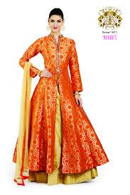 neerus orange color suit skirt