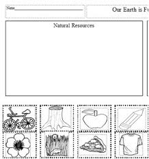 natural resources vs man made sort by teaching power tpt