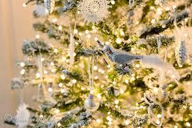 my diy flocked christmas tree songbird