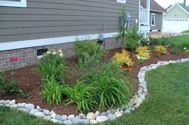 Rocks For Garden Edging Rock Edging Landscaping Landscape Borders And Edging Ideas Image