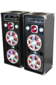 bluetooth party speakers with lights dolphin 1200w party speaker active passive pair sp 61bt