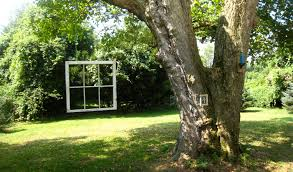 window frames hanging from trees sweet i think i found another