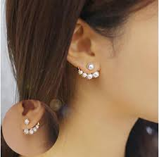 personality stud earrings lovely fashion exquisite right