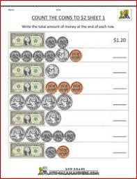 money worksheet counting u s coins small collections a
