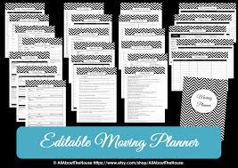 Household Items Checklist by Moving Planner U2013 Editable