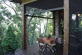 contemporary retractable screen doors porch eclectic with home