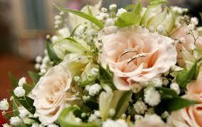wedding flowers hd wedding bouquet two flowers rings flower iphone 5 wallpaper hd