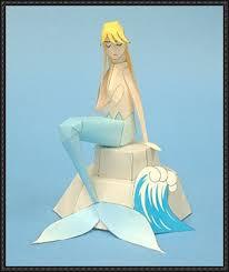 mermaid free papercraft download
