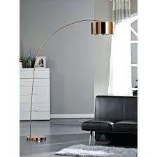 arched floor lamp inch rose copper led arched floor lamp modern