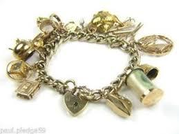 charm bracelet gold vintage images Gold charm bracelet ebay JPG