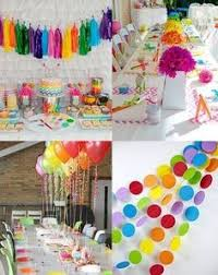 Rainbow Party Decorations Rainbow Tassels And