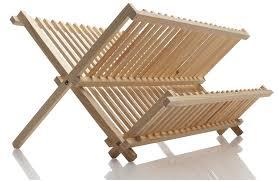 amazon com norpro pine wood folding dish rack drying racks for