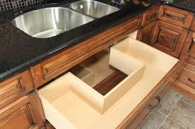 kitchen cabinet under sink drawer kitchen