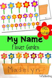 name recognition flower garden totschooling toddler preschool