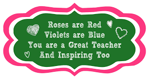 Halloween Poems For Teachers Roses Are Red Printable Teacher Poem Diy Inspired