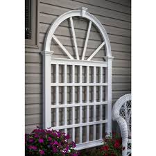 vigoro 72 in metal cypress fan trellis 861184vg the home depot