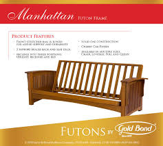solid wood futon frame craftsman futon frame the futon store and mattress center