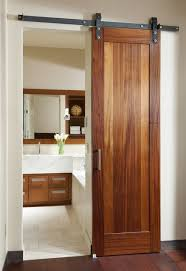 bathroom door ideas bathrooms cool bathroom with sliding barn door and modern vanity