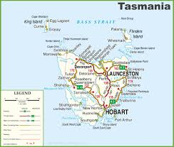 map of tasmania australia detailed tasmania road map with cities and towns