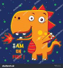 cute dragon character design on tshirt stock vector 422844652