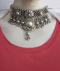 boho statement necklace images Handmade beaded choker necklace statement vintage boho gypsy jpg