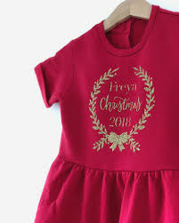 personalised christmas wreath glitter childrens dress by baby yorke