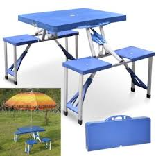 fold out picnic table buy popamazing portable folding picnic table chair set fold out up