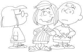 free charlie brown snoopy peanuts coloring pages 2016