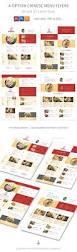 chinese restaurant menu flyers 2 4 options template psd