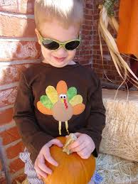 infant toddler boys sleeve brown turkey applique