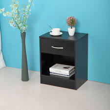 Small Nightstand With Drawers Black Night Stand Furniture Ebay