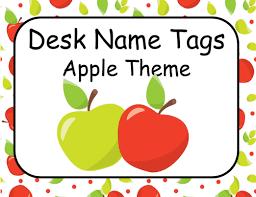 Desk Name Tags by Desk Name Plates Editable Apple Theme