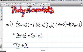 adding and subtracting polynomials grade 9 academic lesson 3 6 2