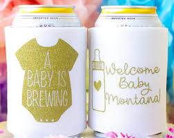 shower koozie baby shower koozie etsy