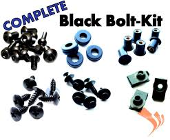 black fairing bolts 06 07 honda cbr1000rr complete bolt kit