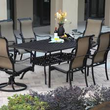 outdoor u0026 garden monterey cast aluminum patio dining set for 7