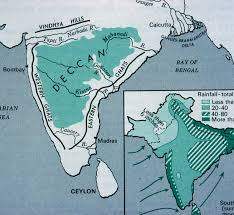 India Physical Map by Map Of India Showing The Deccan Plateau Mit Libraries