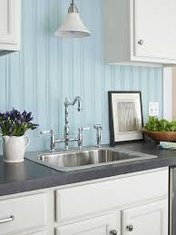 blue kitchen backsplash white cabinets choosing the backsplash beadboard backsplash pros