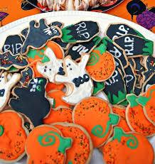 Halloween Pumpkin Sugar Cookies - frosted halloween sugar cookies bats cats pumpkins ghost and