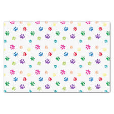 paw print tissue paper cat craft tissue paper zazzle