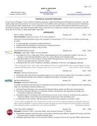 Project Resume Example by Account Manager Resume Samples Visualcv Resume Samples