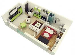 Best Studio Apartment Floor Plans Images On Pinterest - Design for one bedroom apartment