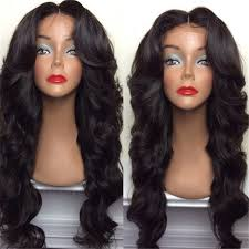 long black hair with part in the middle long middle part shaggy big wavy synthetic wig in natural black