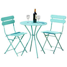 Patio Furniture Pub Table Sets - rst brands sol blue 3 piece patio bistro set op bs3 sol bl the
